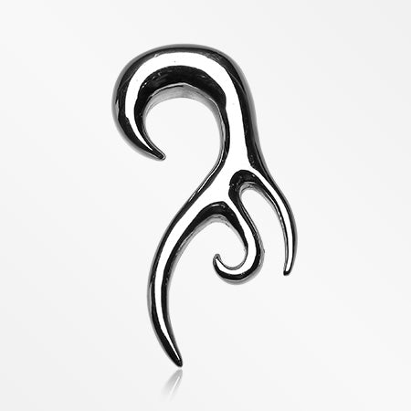A Pair of Tribal Fang Swirl Hook Steel Hanging Taper Expander-Steel