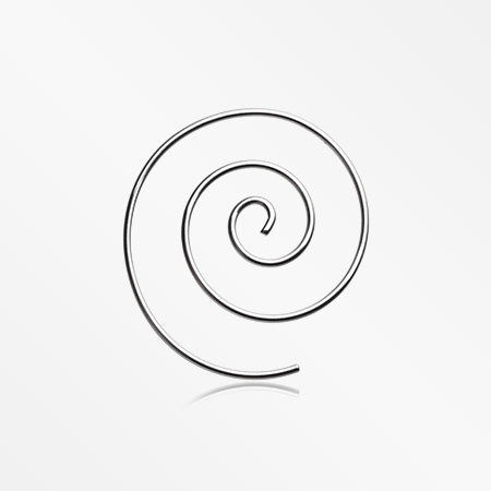 A Pair of Multi Spiral Steel Earring-Steel