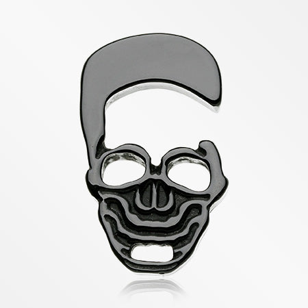 A Pair of Death Skull Black Acrylic Hanger Plug-Black