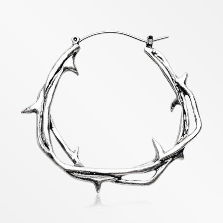 A Pair of Vintage Crown of Thorns Plug Hoop Earring