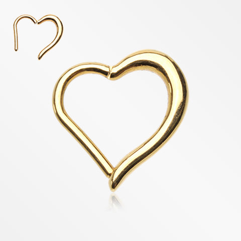 Golden Luscious Heart Seamless Clicker Ring