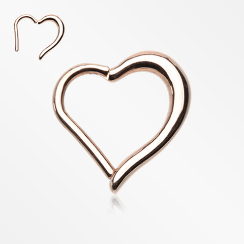 Rose Gold Luscious Heart Seamless Clicker Ring