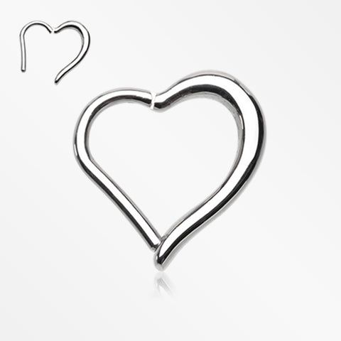 Luscious Heart Seamless Clicker Ring