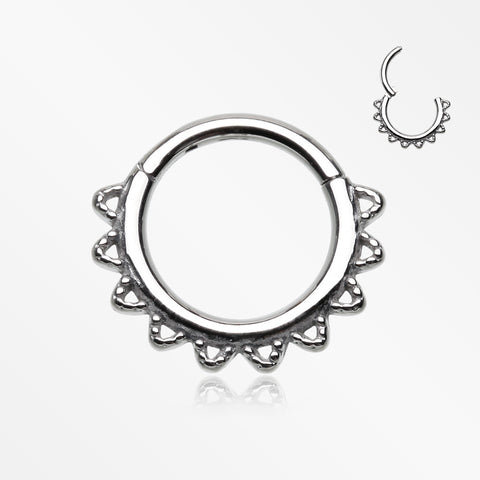 Tribal El Sol Clicker Hoop Ring