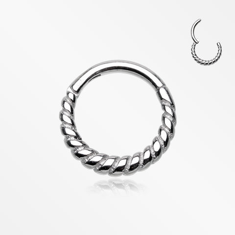 Classic Rope Seamless Clicker Hoop Ring