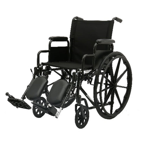 Wheelchair Dual axle 18 Inch with Removable Elevating Leg Rest