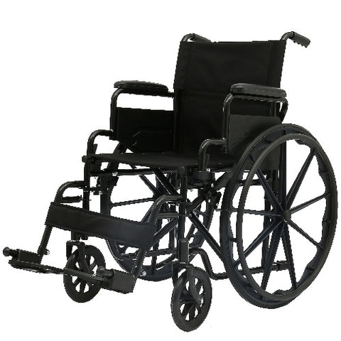 Wheelchair 18 Inches With Flip Back Arms and Swing Away Leg Rest