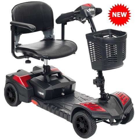 Drive Medical Spitfire Scout 4 Travel Mobility Scooter Wheelchair
