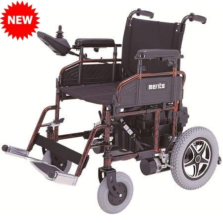 Merits P101 MP-1 Folding Power Wheelchair