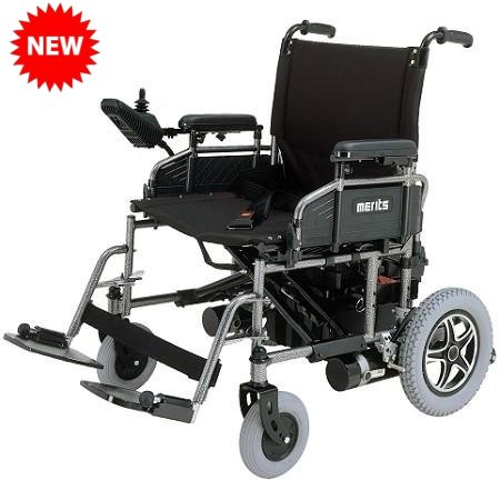 6a8d811355740d Merits P181 Heavy Duty Folding Power Wheelchair