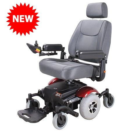 Merits P326A Vision Sport Mid-Wheel Drive Power Wheelchair