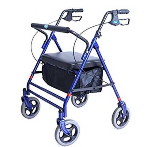 Heavy Duty Bariatric Rollator, with Flip-up Padded Seat, 450 lb. Weight Capacity