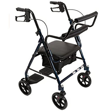 Transport Wheelchair and Rollator All in One With Seat Lightweight