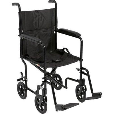 Transport Wheelchair With Swing Away Removable Legs and Folding Back