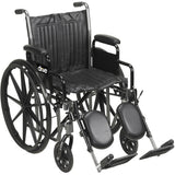 Wheelchair 18 inch Wide With Removable Elevating Legrest