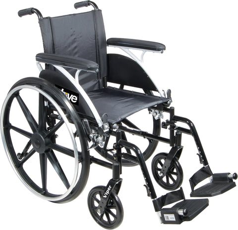 Drive Medical Viper Wheelchair Deluxe Wheelchair - medicalsupplydepotandrepairs