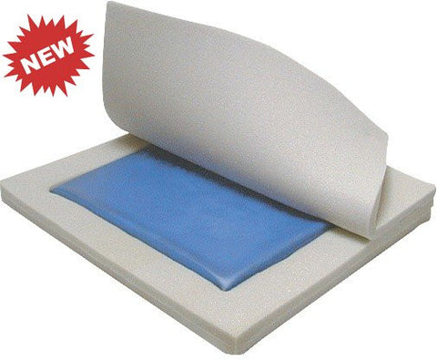 Comfort Care Gel Foam Wheelchair Seat Cushion