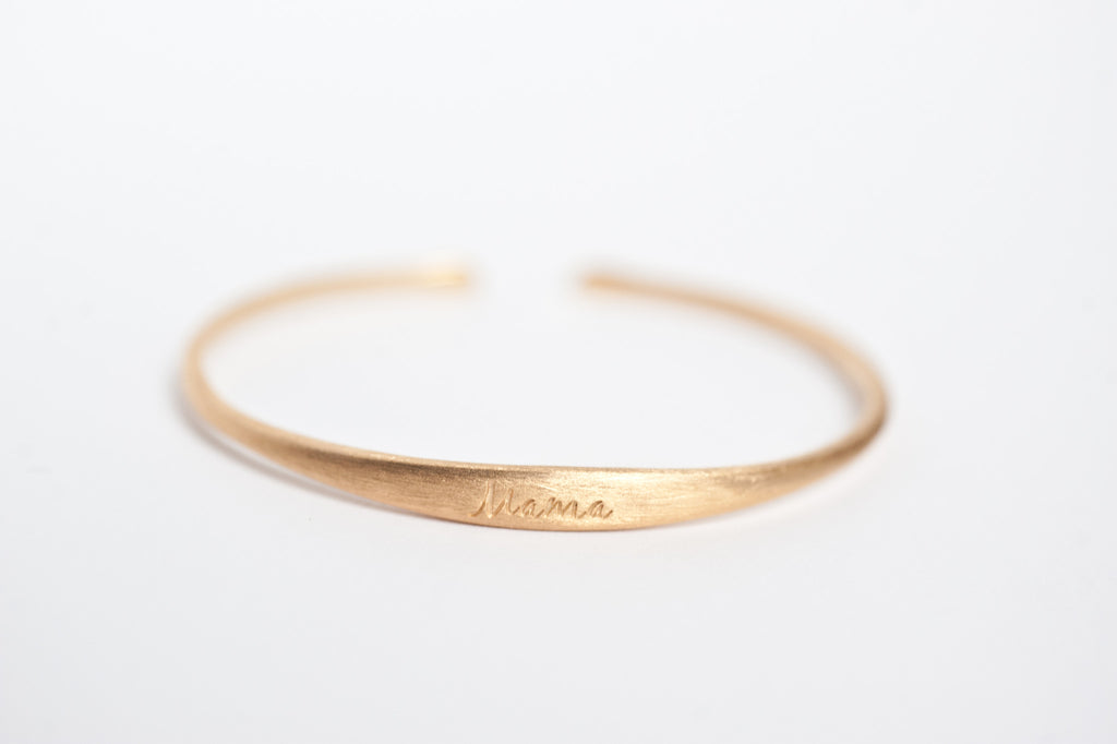 Mama Bracelet - Brushed Gold
