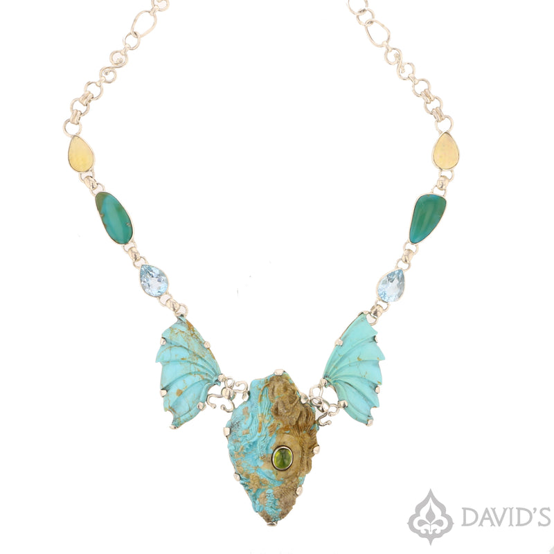 Turquoise Dragon Necklace