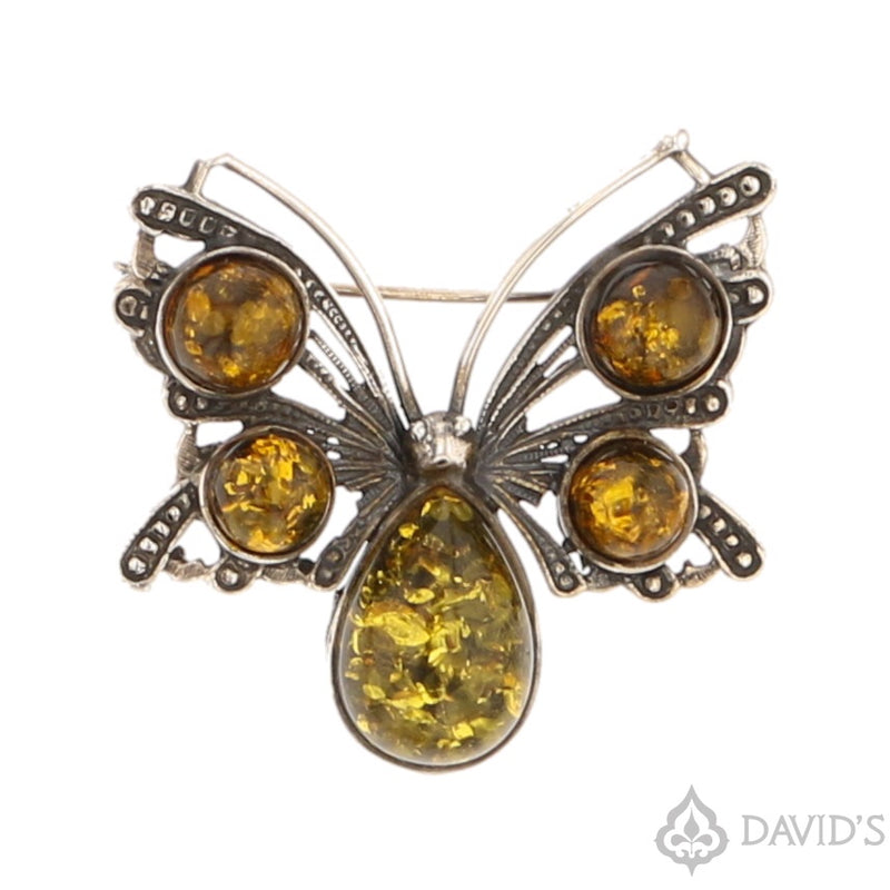 Baltic Amber Butterfly Pendant