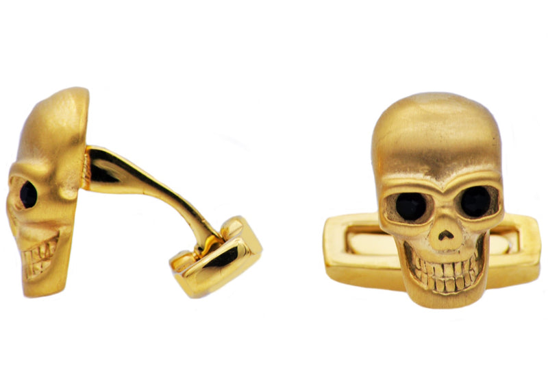 Golden Skull Cuff Links