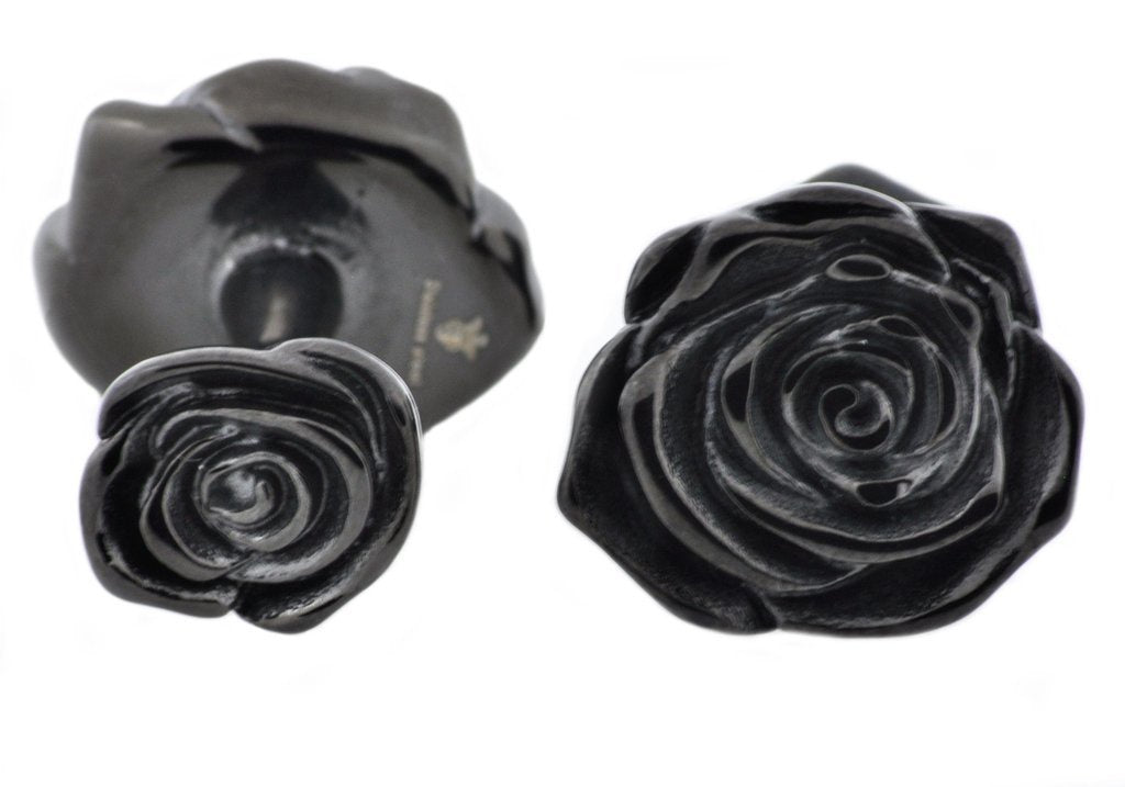 Black Rose Cufflinks - David's Antiques & Jewelry