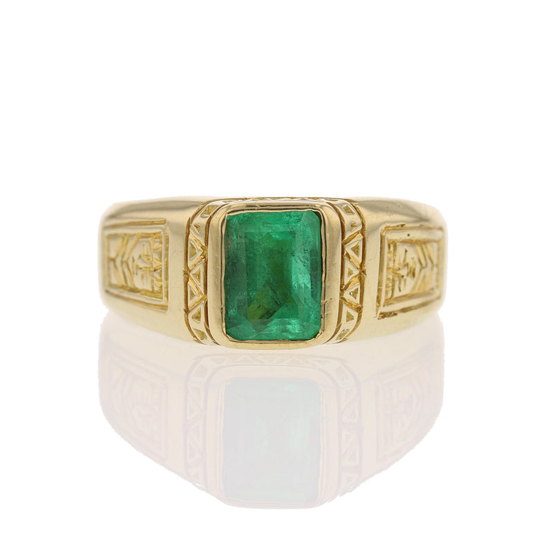 Emerald Man's Ring