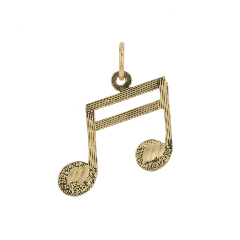 Gold Music Note Pendant