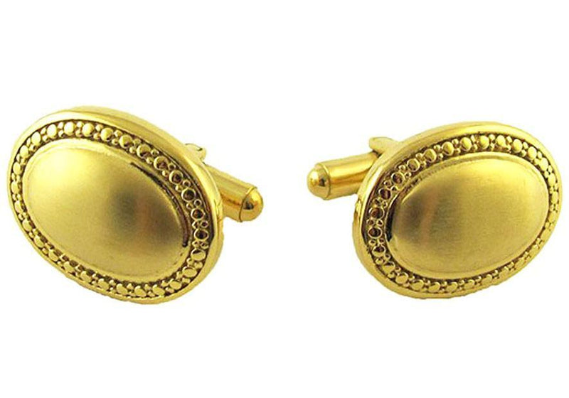 Oval Gold Plated Cufflinks