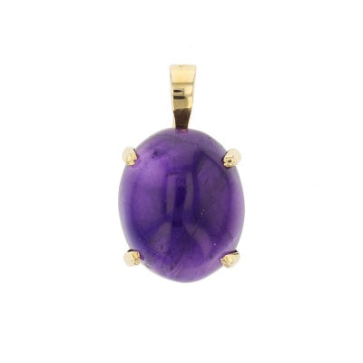Cabochon Amethyst Pendant - David's Antiques & Jewelry