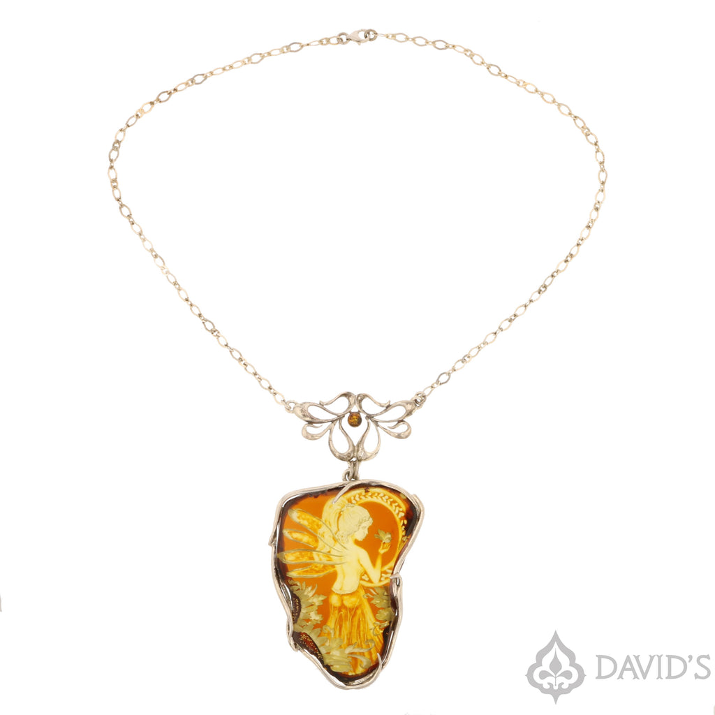 Intaglio   Amber Necklace