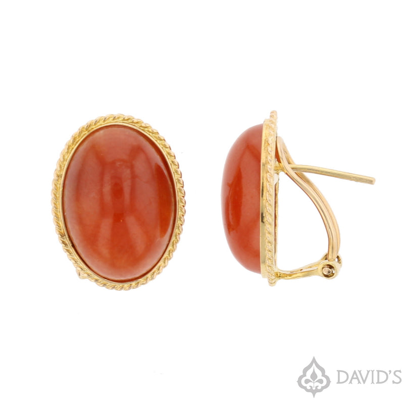 Carnelian  Earrings - David's Antiques & Jewelry