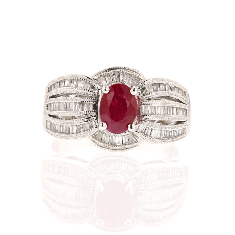 Cocktail Ruby  Ring - David's Antiques & Jewelry