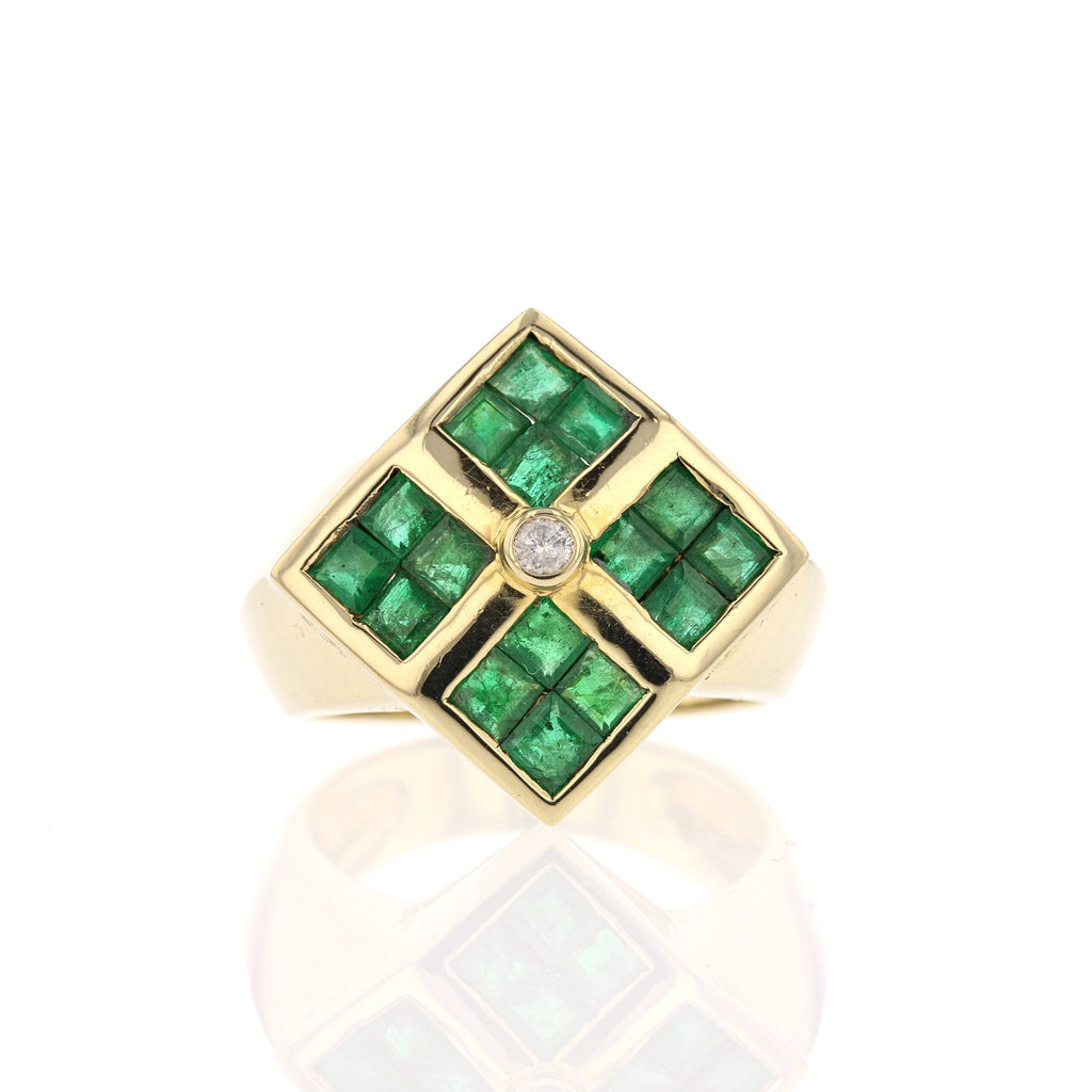 Emerald, Diamond Ring