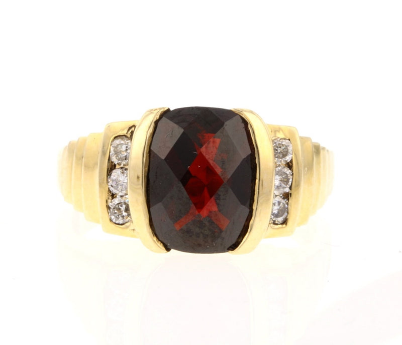 Checkerboard Rhodolite Ring - David's Antiques & Jewelry