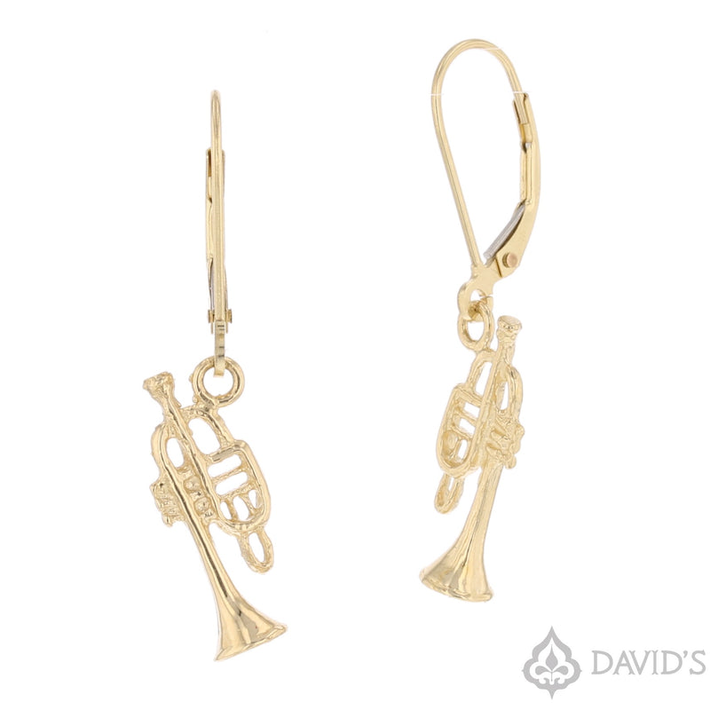 3D Trumpet Earrings