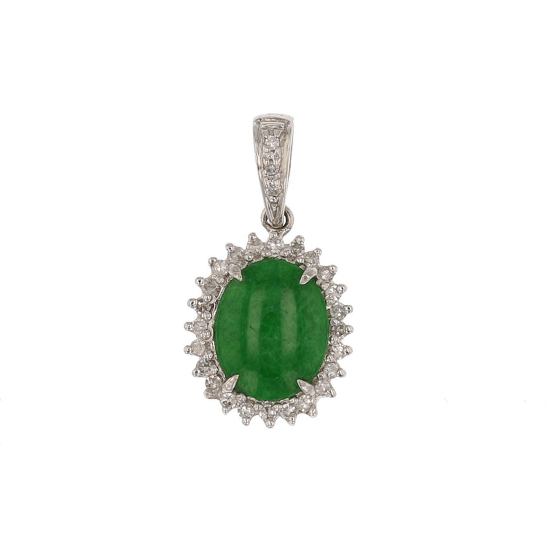 Jade & Diamond  Pendant