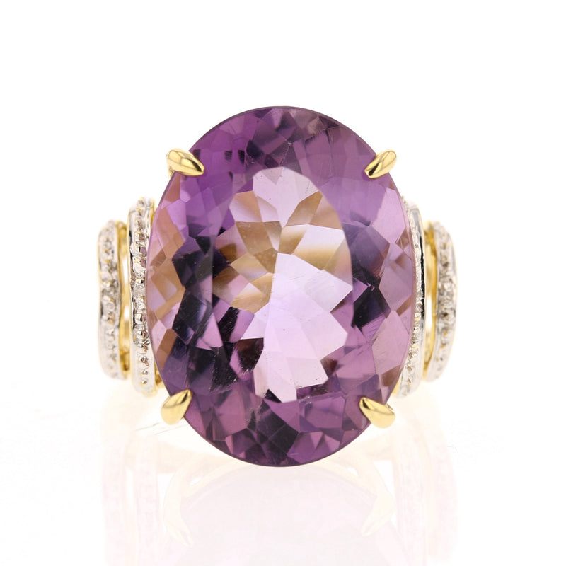 Large Amethyst Ring