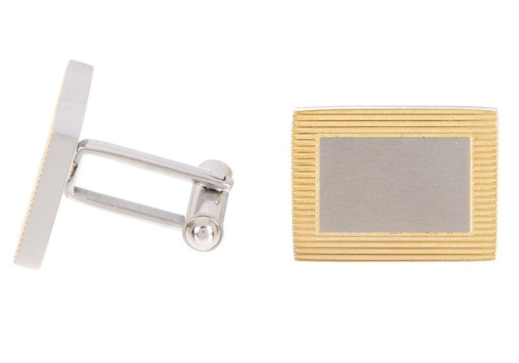 Gold Plated Frame Cuff Links