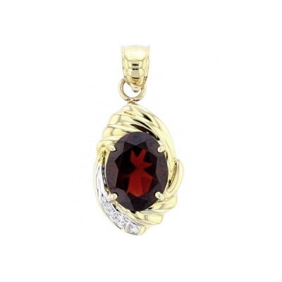 Garnet and Diamond Pendant