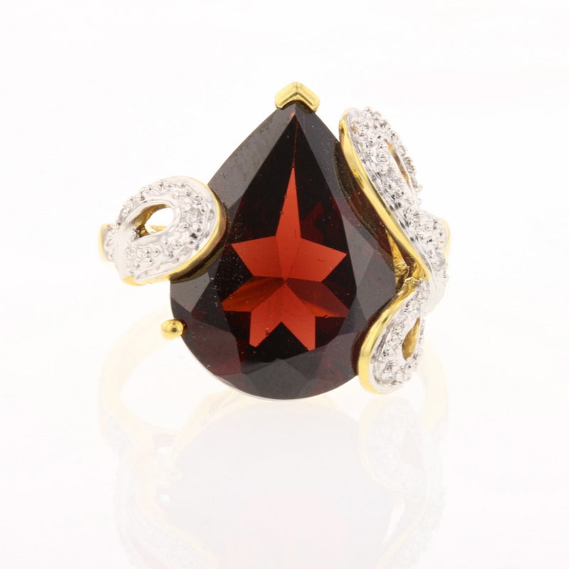 Pear Shape Garnet Ring