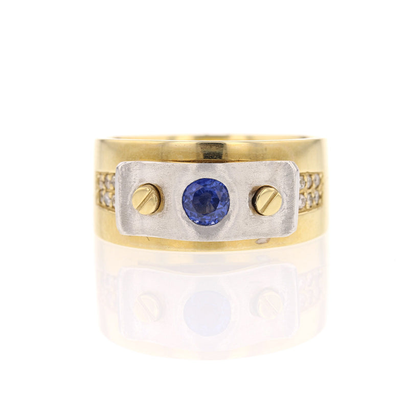Contemporary Sapphire Ring - David's Antiques & Jewelry