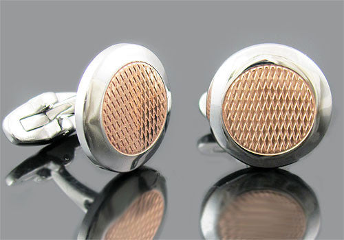Rose Plated Cuff Links