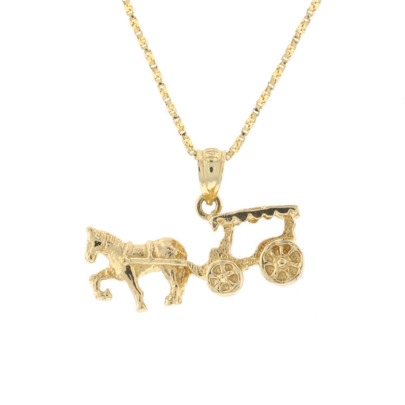 Gold Carriage Pendant