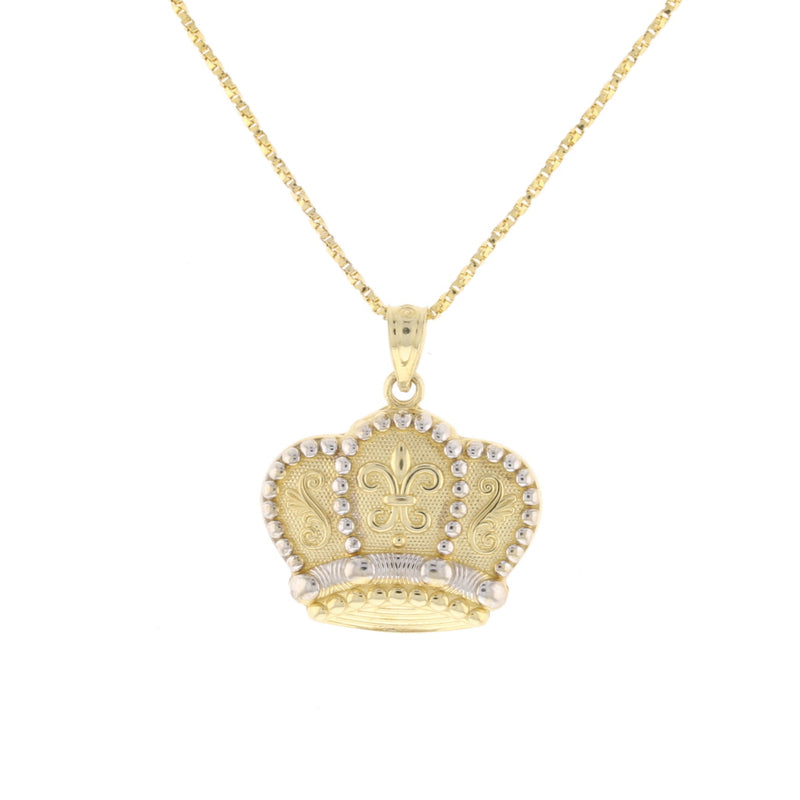 2 Tone King Crown With F.D.L Pendant - David's Antiques & Jewelry