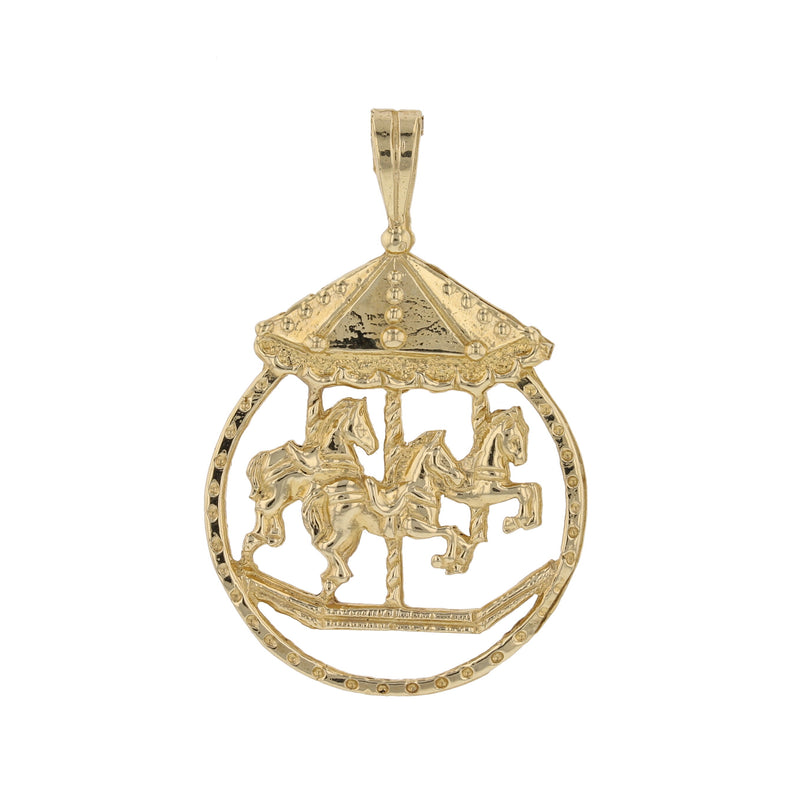 Carousel In Circle Pendant - David's Antiques & Jewelry