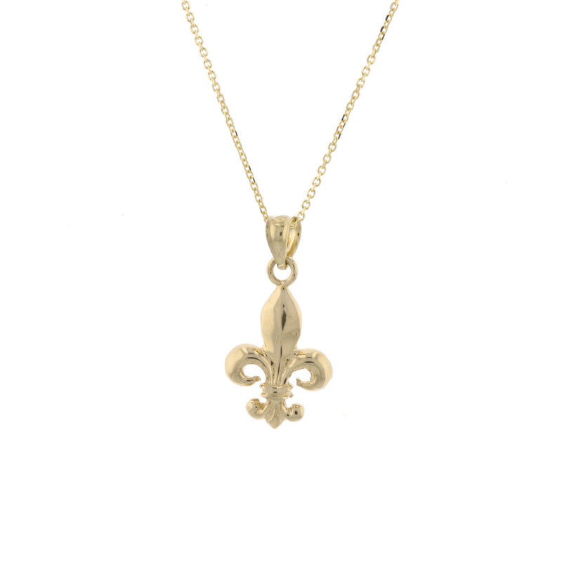 Gold Double Side Small F.D.L Pendant