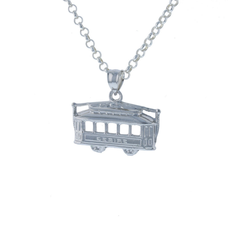 3D Large Desire StreetCar Pendant - David's Antiques & Jewelry