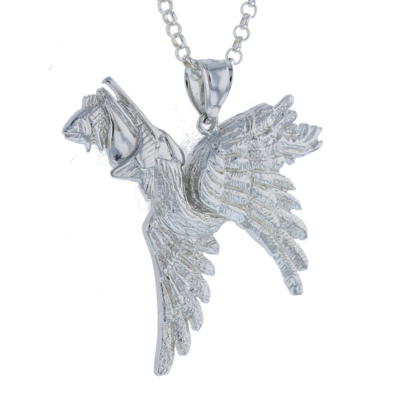 Pelican Eating a Fish Pendant