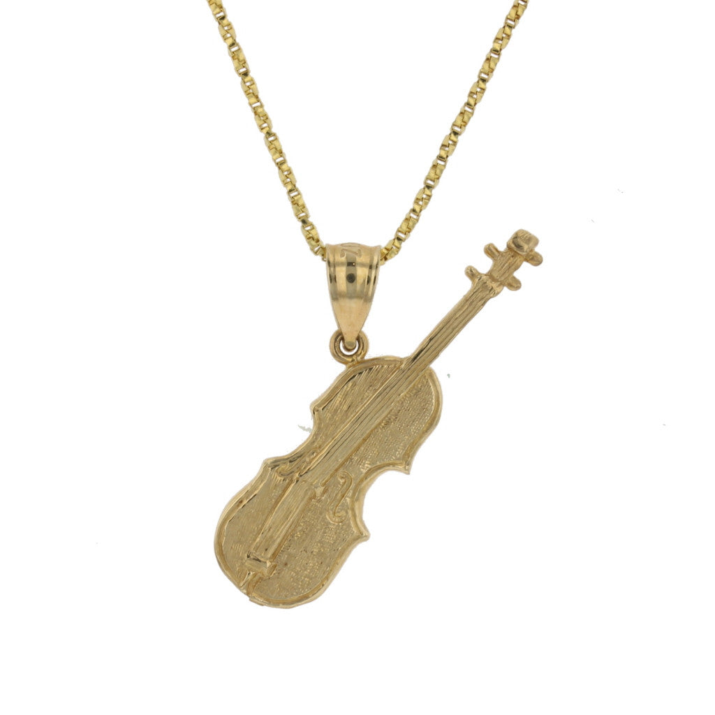 2D Cello Pendant - David's Antiques & Jewelry